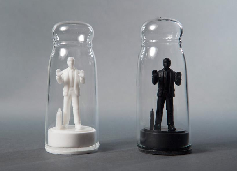 Drowning in Debt Salt and Pepper Shakers by Sebastian Errazuriz