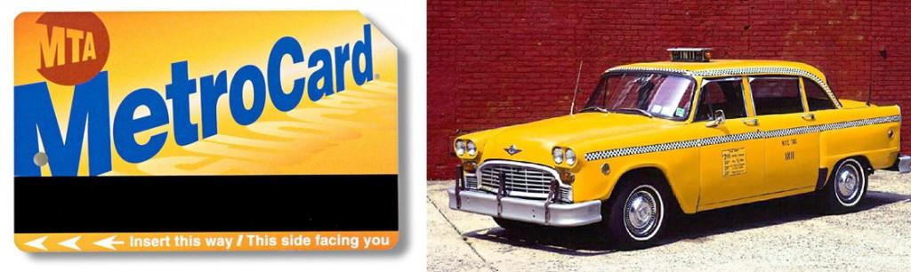 The Metro Card (1994) & Checker Taxi Cab (1964-1986)