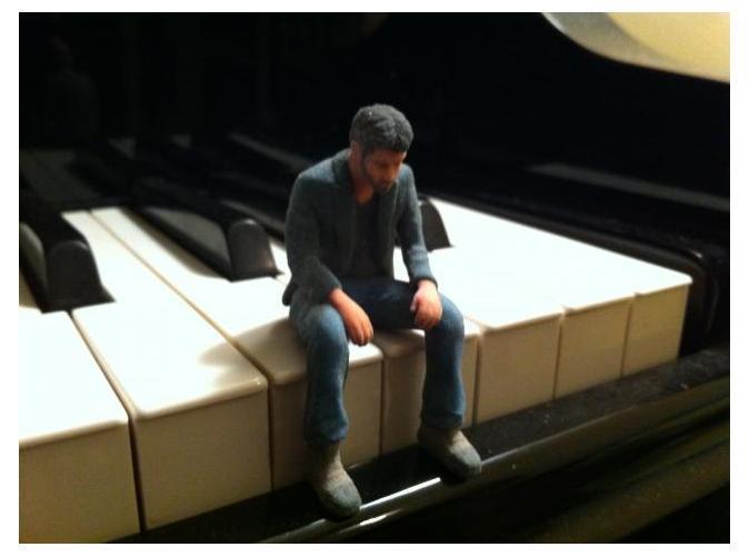 Sad Keanu meme 3D-printed on Shapeways