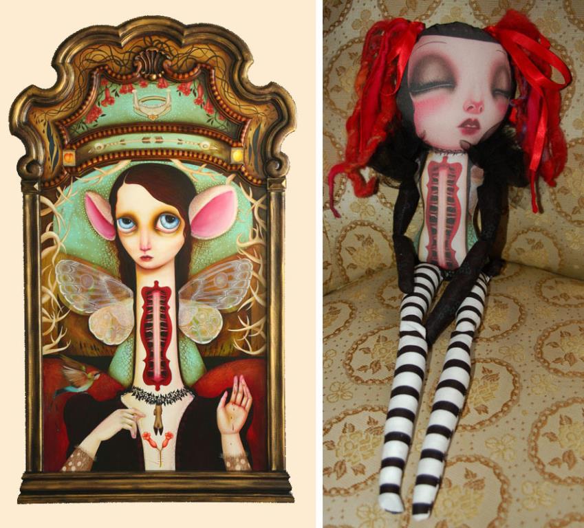 Sleeping Sybilla art doll by Jennybird Alcantara