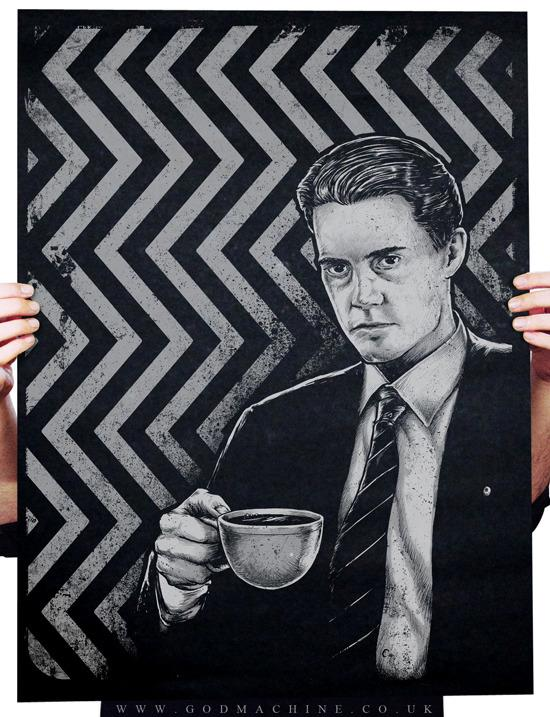 Black as Midnight, Twin Peaks Poster by Godmachine