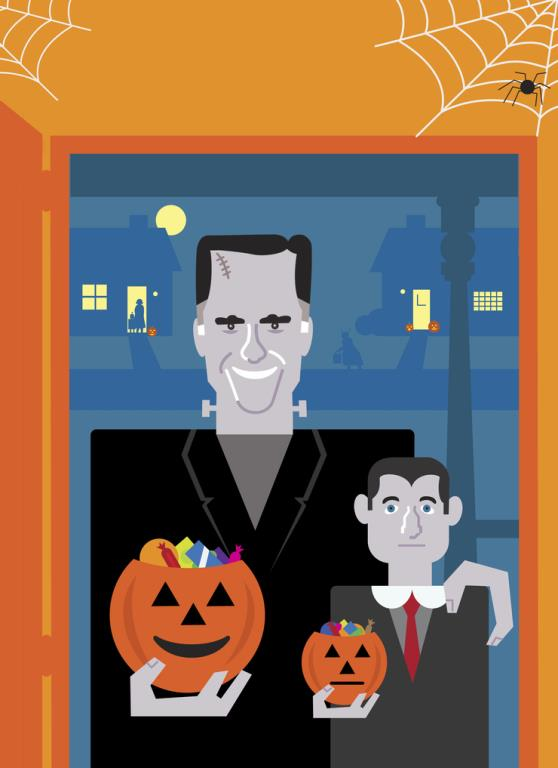 Mitt Romney and Paul Ryan as The Munsters by David Flaherty