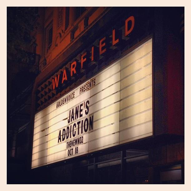 Jane's Addiction at The Warfield, San Francisco 10-18-12