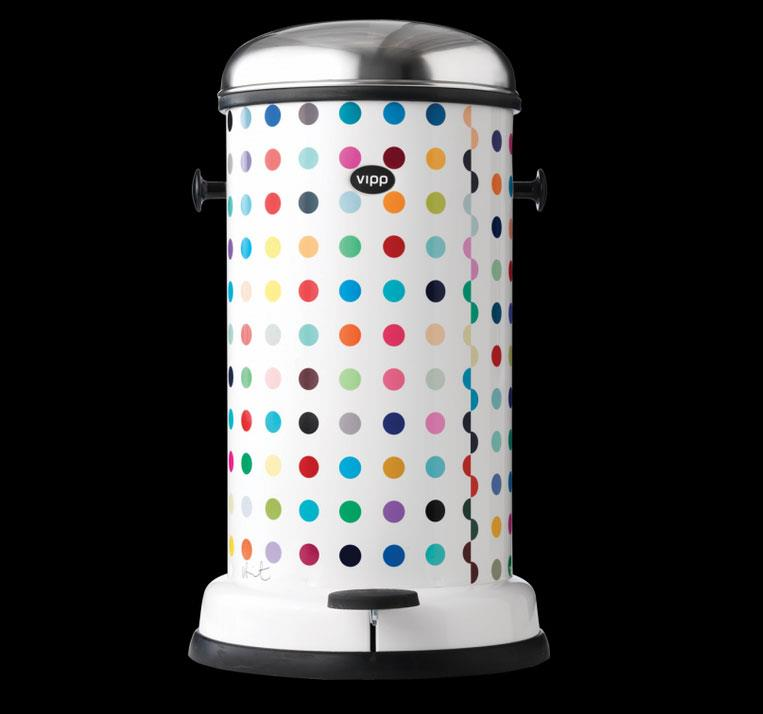Damien Hirst Spot-Painted VIPP Trash Can