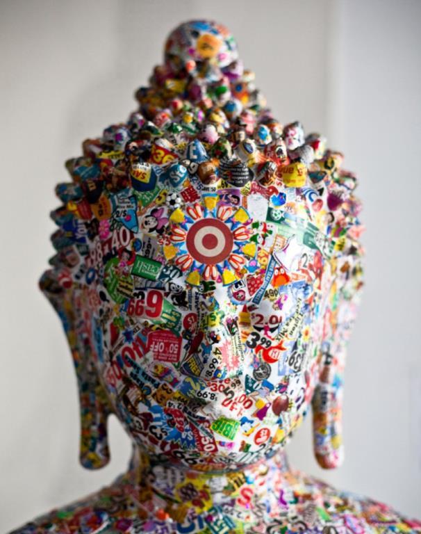 Pop Culture Buddhas by Gonkar Gyatso