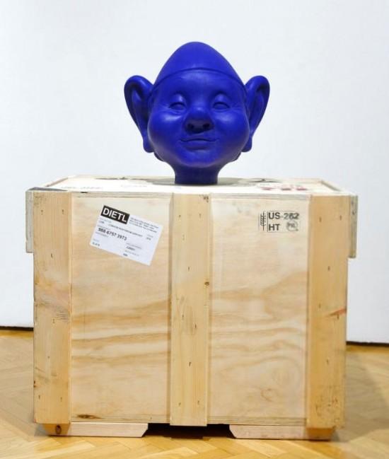 """Paul McCarthy """"Dwarf Head Blue"""" (2000)"""