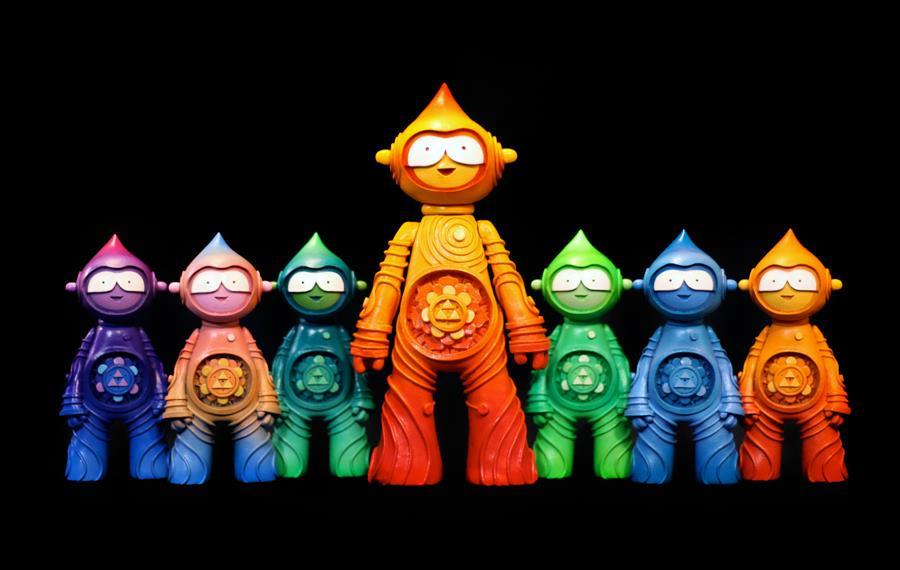 Muju Mini Mandala Spirit bioresin sculptures