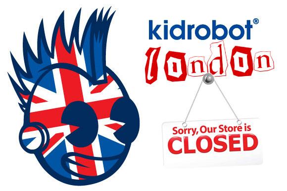 Kidrobot London store closing