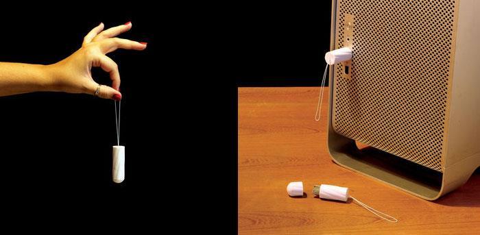 The tampon USB flash drive