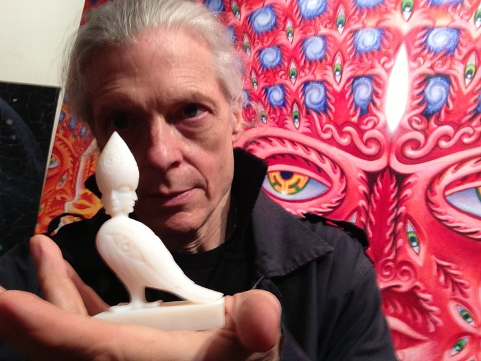 Alex Grey with 3D model of SoulBird