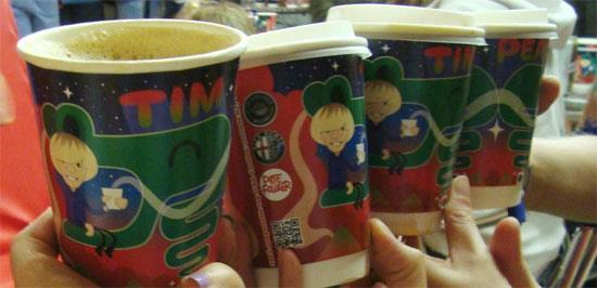 Tim Peaks coffee cups