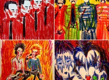Kraftwerk, The Beatles, Sex Pistols, KISS by Nathan Jurevicius